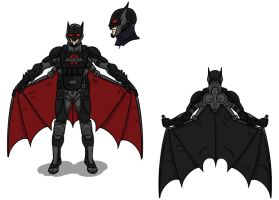 Batman Redesigned without blue by toekneearrows