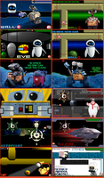 Wall-E PSP Wallpaper Set by greendrakkon
