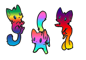 Rainbow kitten adoptables-C.L.O.S.E.D. by Frozen-x-Rain