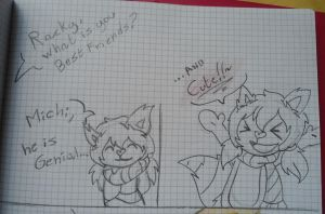 questions of my classmates xD by Happy-Pancakes