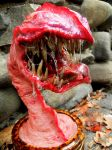 large potted beast mouth close up by dogzillalives