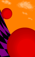 Red Sphere Planes-2 by dinshino