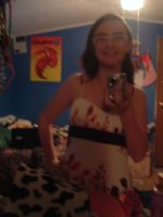 Me wearing my dress c: by ChickenNuggetGalaxy