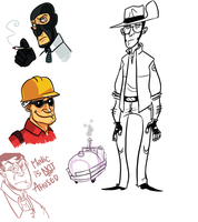 TF2 Sketch by monkeyoo