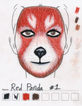 Red Panda makeup sketch #1 by toberkitty