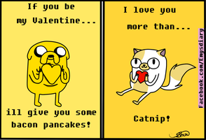 Valentines Card  jake and cake by EmilysDiary