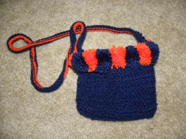 Crocheted Bears Pouch by ChallengeSakana