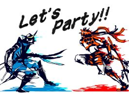 let's party MasamunexYukimura by 0thefoolnever