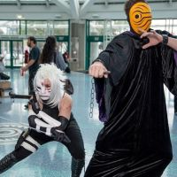 Battle Fem! Anbu Kakashi and Masked Man by ChidoriLove89