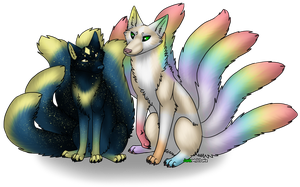 Fluffy Tails by JadeWolfbane