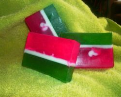 Watermelon soap slices by bhudicae