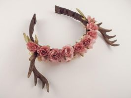 Dusty Rose Antlers by sweetmildred