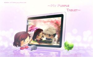 My Purple Tablet by Kauthar-Sharbini