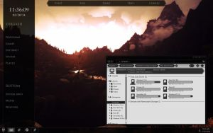 Skyrim Windows theme preview by yorgash