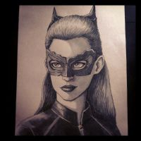 Catwoman Sketch by LouBrication