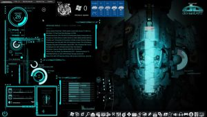 my desktop dead space theme-using rainmeter by louiezzz