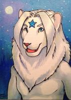 Starr Lion ACEO by AokiBengal