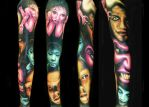 Black and FAce Sleeve by brandonbond