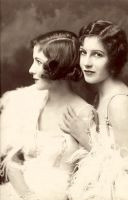 Vintage Stock-Fairbank sisters by Hello-Tuesday