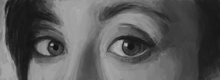 Eyes Painting 5 by Russtiel