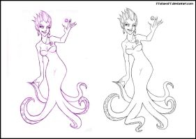 Ursula +sketch and line+ by 77Shaya77