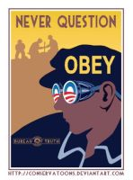 Never Question Obama by Conservatoons