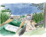 Boat Launch Watercolors by CarbonF