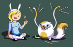 Fionna and Cake by meglish