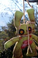 ZomBunneh the Zombie Plush by livetoletlive