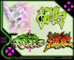 retro game graffix collab by SektrOne