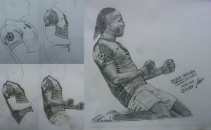 Didier Drogba drawing by drifter765