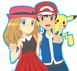 Satoshi and Serena by lilidoodle