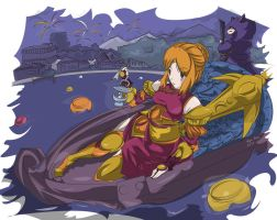 Leona Attendance to the Lunar Festival by Kentoanime