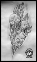 Biomechanical Skull by RiversStudio86