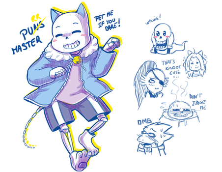 Sans - Purr Master ! (and co) by Kaweii