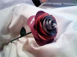 Pastel Duct Tape Rose by SilenceWriter