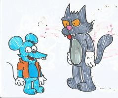 Itchy and Scratchy by MarcosPower1996