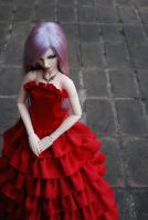 BJD Clothes: Lady in Red by Shido-Tooyu