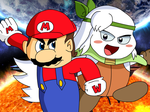 Mario and Sirica - Colored Version by KingAsylus91
