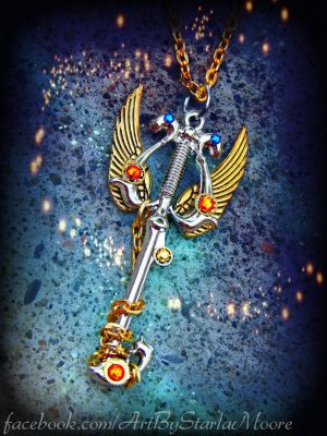 THREE WISHES AUCTION Keyblade by ArtByStarlaMoore