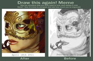 Masquerade: Before and After by rubygloommel