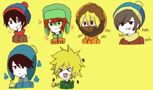 South Park Icons by Blood-Self-Star
