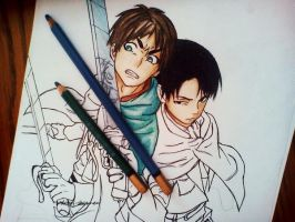 Eren and Levi by DoreiShounen