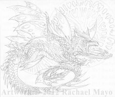 Flight of the Determined - pencil by rachaelm5