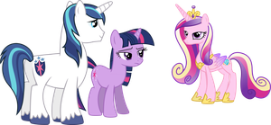 Cadance, Shining and Twilight (No Tuxedo Version) by 90Sigma
