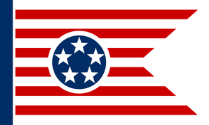 Post-Apocalyptic Tennessee Flag by Rarayn