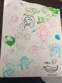 Doodling with Beanybeanies by Cathia-Joomani