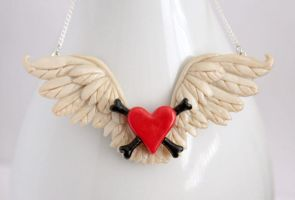 Ivory Toxic Angel Wings by NeverlandJewelry