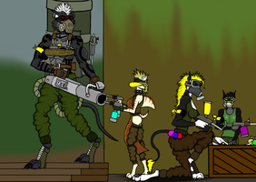 Art Trade - Paintball match 2 by marcioo9