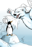 Penguins and Polarbears by Gazzolla